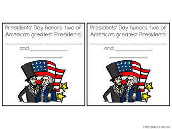 Presidents' Day Paper Bag Book - Holidays Paper Bag Books