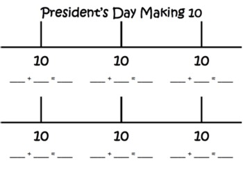 President's Day ~ Part Part Whole Common Core Math Mats & Center ~ Addition