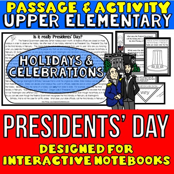 Presidents' Day: Reading Passage and Questions: Interactive Notebook
