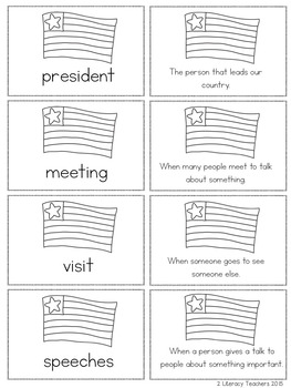 President's Day: CCSS Aligned Leveled Reading Passages and Activities A - I
