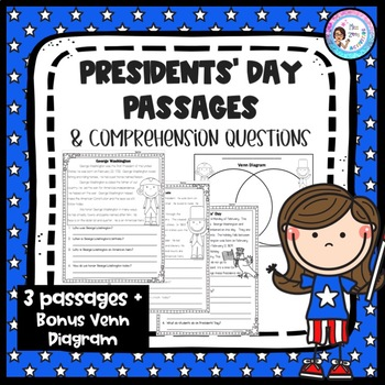 Presidents' Day Passages with Comprehension Questions *No Prep*