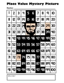 Presidents Day Place Value Math Mystery Picture - Abraham Lincoln - 8.5x11