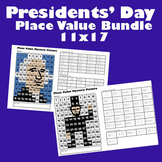 Presidents Day Place Value Mystery Picture Bundle- Washington & Lincoln - 11x17