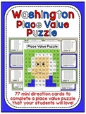 Presidents Day Math Center: George Washington Place Value 100 Chart Puzzle