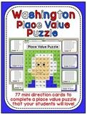 Presidents Day Math Center: George Washington Place Value 100 Chart Puzzle