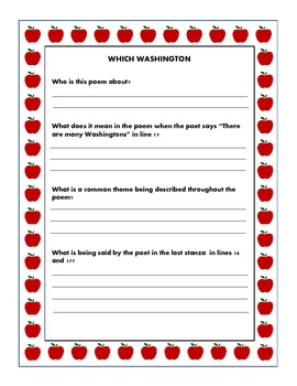 President's Day Poetry Lesson Worksheets