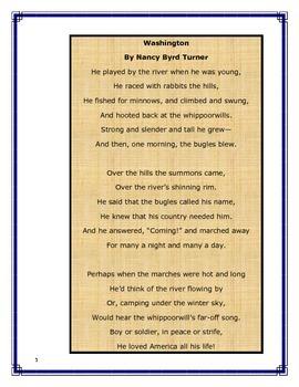 President's Day Poetry-Washington (Grades 2-5)