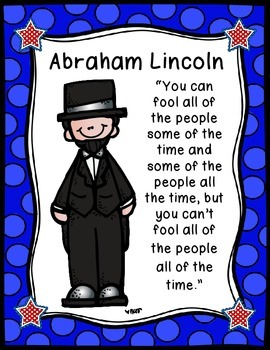 President's Day Posters with Quotes