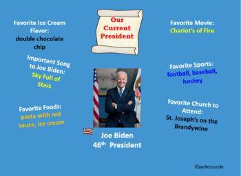 President's Day Power Point kindergarten, first, second, third