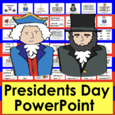 Presidents' Day PowerPoint for Primary with 3 Levels and Animated Vocabulary!