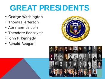 President's Day Powerpoint PPT and United States Presidential History