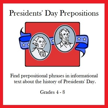 Presidents' Day Prepositions