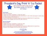 President's Day Print 'n' Go Packet