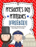 President's Day Printables {Freebie!}