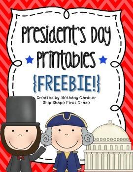 President's Day Printables {Freebie!}