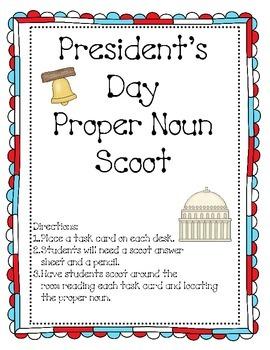 President's Day Proper Noun Scoot