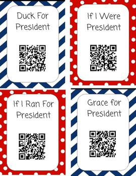 Presidents Day QR Code Read Aloud Listening Centers