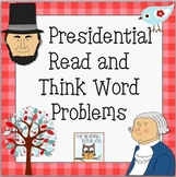 Word Problems: President's Day | Read and Think Literacy M