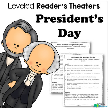 President's Day Reader's Theater {Leveled Parts}