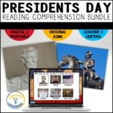Presidents' Day Reading Comprehension Bundle   Boom Cards