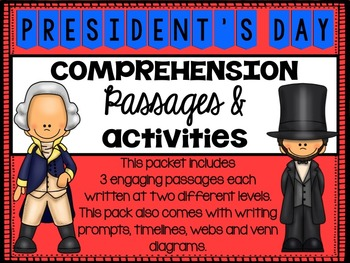 Presidents Day Reading Comprehension Passages