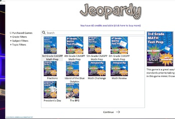 Presidents' Day Reading Comprehension and Jeopardy Game