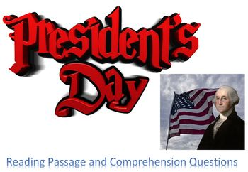 Presidents' Day Reading Passage Comprehension