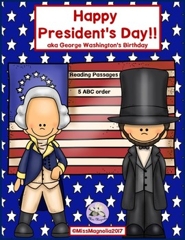 Presidents' Day Reading Passages Informational Text