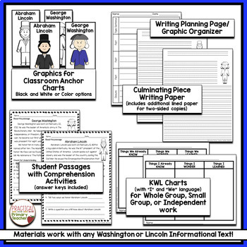 Presidents' Day Reading Passages and Response Activities
