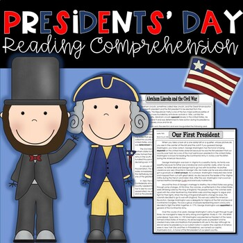 President's Day Reading Passages with Common Core Aligned Questions
