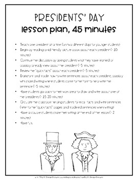 Presidents' Day Lesson Plans