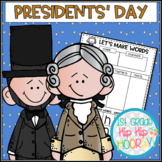 Presidents' Day...Informational Text, Writing, Word Work for the Primary Child!
