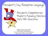 President's Day Receptive Language Packet