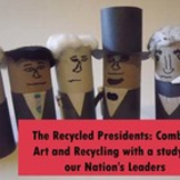 Presidents Day: Recycled Presidents Project