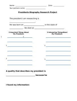 President's Day Research