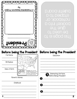 Presidents' Day Research Activity