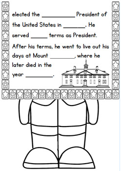 Presidents' Day Research-Based Craftivity for Grades 3-4