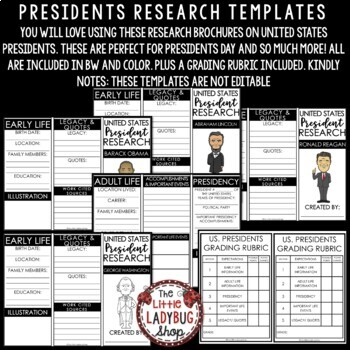 Presidents' Day Writing Activity - George Washington & Abraham Lincoln Research