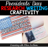 Presidents' Day Research Writing Craft Activity
