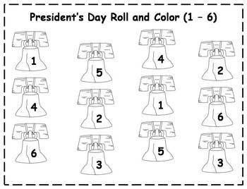 President's Day Roll and Color {FREEBIE}