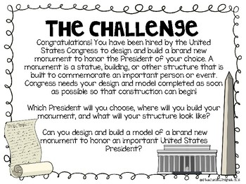 Presidents' Day STEM Challenge - Design and build a Monument