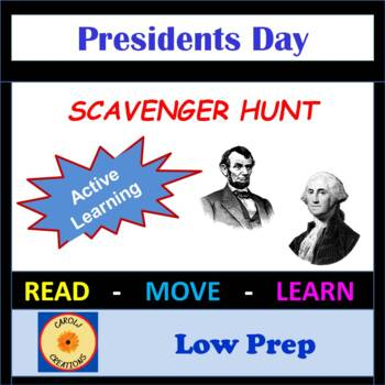 President's Day Scavenger Hunt: George Washington & Abraham Lincoln