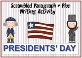 Presidents' Day Scrambled Paragraph + Plus
