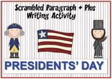 Presidents' Day Scrambled Paragraph + Plus