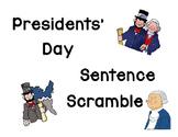 Presidents' Day Scrambled Sentences
