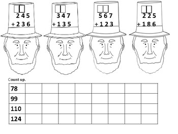 Presidents' Day Second Grade Math