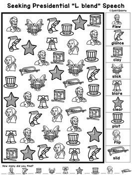 Presidents' Day Seeking Speech Therapy Activity {articulation}