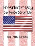 Presidents' Day Sentence Scramble, Washington & Lincoln