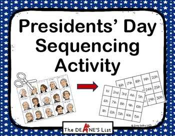 Presidents' Day Sequencing Activity