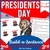 Presidents Day Sight Words ~Scrambled Sentences~ 1st, 2nd, 3rd Grades